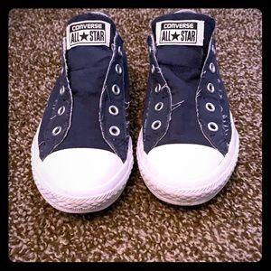 Blue No Lace Converse Chuck Taylors